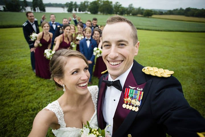 Chesapeake Maryland Wedding photo of bridal party
