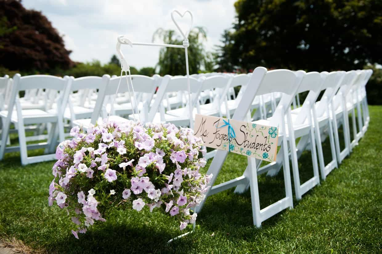 Ceremony flowers at Penn Oaks Country Club