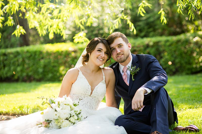 Bride and groom portrait at the Farmhouse in Wilmington Delaware